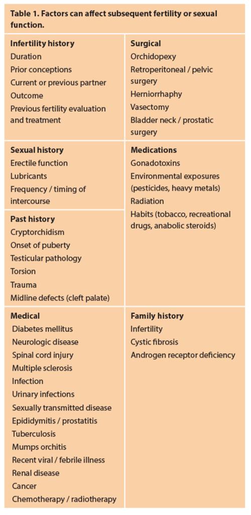 Prostatitis Infertility