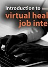 Virtual healthcare job interviews article graphic link.